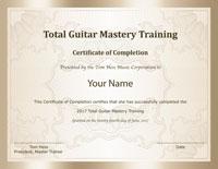Tom Hess Total Guitar Mastery Certificate